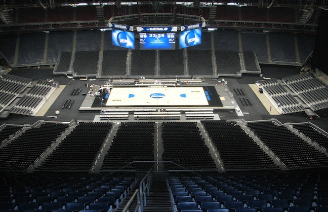 AT&T Stadium Getting Ready For Final Four