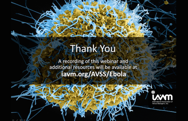 Wash Your Hands: The Ebola Outbreak and Venue Operation