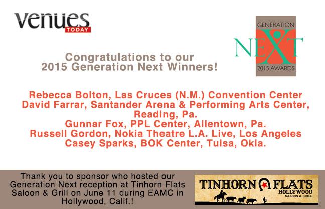 Congratulations 2015 Generation Next Winners!