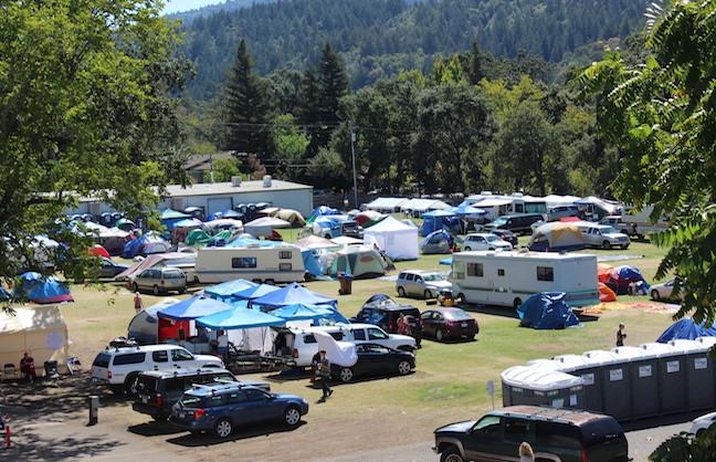 Napa County Fairgrounds Becomes Evacuation Center
