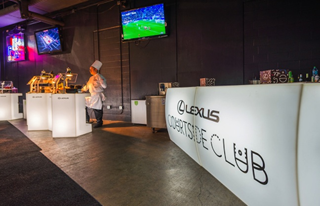Pop-up Courtside Club Hosts Clippers' VIPs