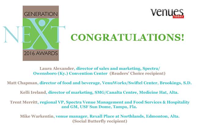 Congratulations 2016 Generation Next award winners!