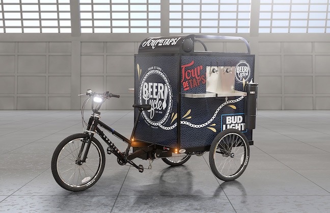 ARAMARK'S BEER CYCLES BRING THE BREW TO YOU